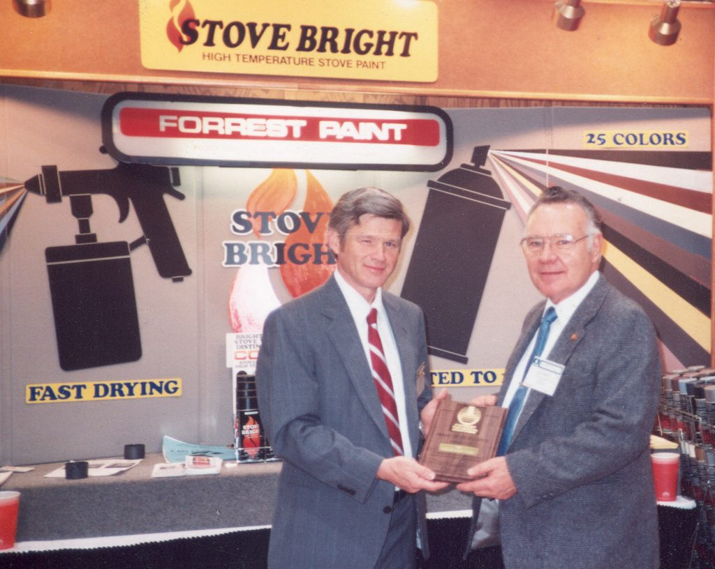 Scott Forrest with Stove Bright